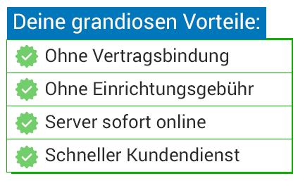 Günstige VServer Root Server Domains PrepaidHoster - Minecraft server domain erstellen kostenlos